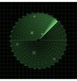 Radar screen on grid vector image vector image