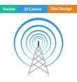 Radio antenna icon vector image vector image