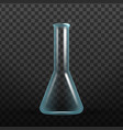 realistic chemisrty science glass flask vector image vector image