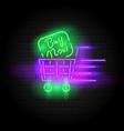 retro neon sign buy now vector image