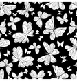 Seamless pattern of beautiful butterflies vector image