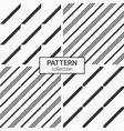 set four seamless patterns modern stylish vector image vector image