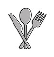 set kitchen cutlery icon vector image vector image