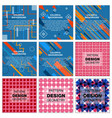 set of abstract avangarde retro background with vector image vector image