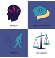 set of alzheimer s disease symptoms icons in flat vector image vector image