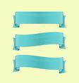 Set of blue sleek web ribbon vector image