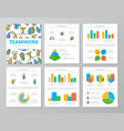 set of colored human resources and business vector image vector image