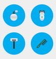 set of simple hairdresser vector image