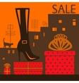 Showcase shoe store vector image