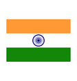 simple flag india vector image vector image