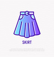 skirt with belt thin line icon vector image