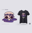 skull with flowing cosmos t-shirt design print vector image vector image