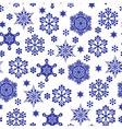 snowfall pattern vector image vector image