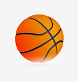 sport icon basketball ball simple flat logo vector image