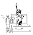 statue liberty in new york design vector image vector image