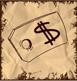 Tag with price sign isolated on vintage background vector image vector image