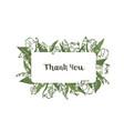thank you word handwritten wit elegant cursive vector image vector image