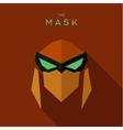 The villain with green eyes orange mask antihero vector image vector image