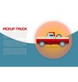 vintage retro pickup truck car with wheel vector image