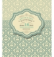 Vintage wedding card vector image