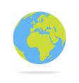 green and blue cartoon world map globe vector image