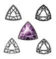 trillion gemstone cut -diamond vector image