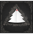 Merry Christmas Stylish Tree vector image