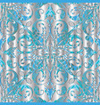 3d silver paisley seamless pattern vector image vector image