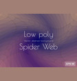 abstract low poly blue brown spider web shaped vector image vector image