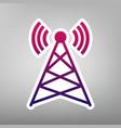 antenna sign purple gradient vector image vector image