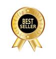 best seller label best seller golden label vector image