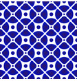 blue and white ceramic pattern vector image vector image