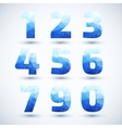 Blue Numbers set modern geometric style vector image