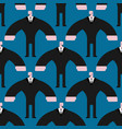 bodyguard pattern security guard in suit ornament vector image