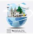 Brazil Landmark Global Travel And Journey vector image vector image