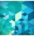 Bright abstract cubes blue background vector image vector image