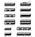 Buses and coaches vector image vector image
