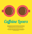 Caffeine Lovers vector image vector image