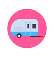 camping trailer icon transport travel concept vector image