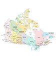 canada administrative political and road map vector image vector image