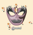 carnival mask vintage icon vector image