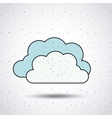clouds isolated icon design vector image