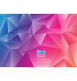 colorful polygon abstract background design fluid vector image