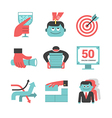 Content management flat icons set Part 1 vector image vector image