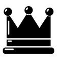 crown icon simple black style vector image vector image