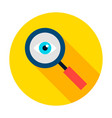 data search circle icon vector image