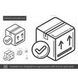 delivery concept line icon vector image vector image