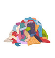 dirty clothes pile messy laundry heap vector image