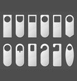 door hangers mockup paper or plastic labels set vector image vector image