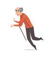 elderly man falling down on floor retired